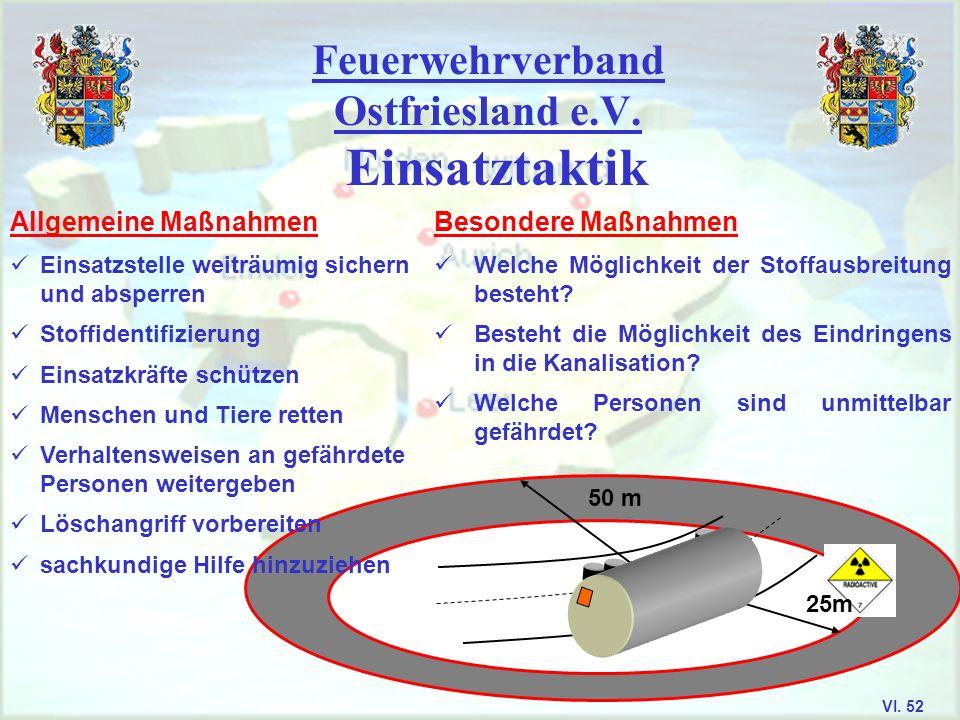 Feuerwehrverband Ostfriesland e.V. Transportkennzeichnungen VI. 51