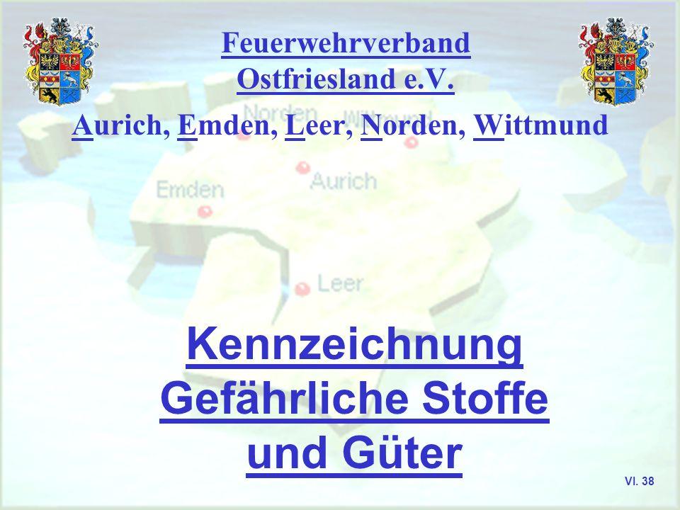 Feuerwehrverband Ostfriesland e.V. Aurich, Emden, Leer, Norden, Wittmund Truppmann I - Ausbildung VI. 37