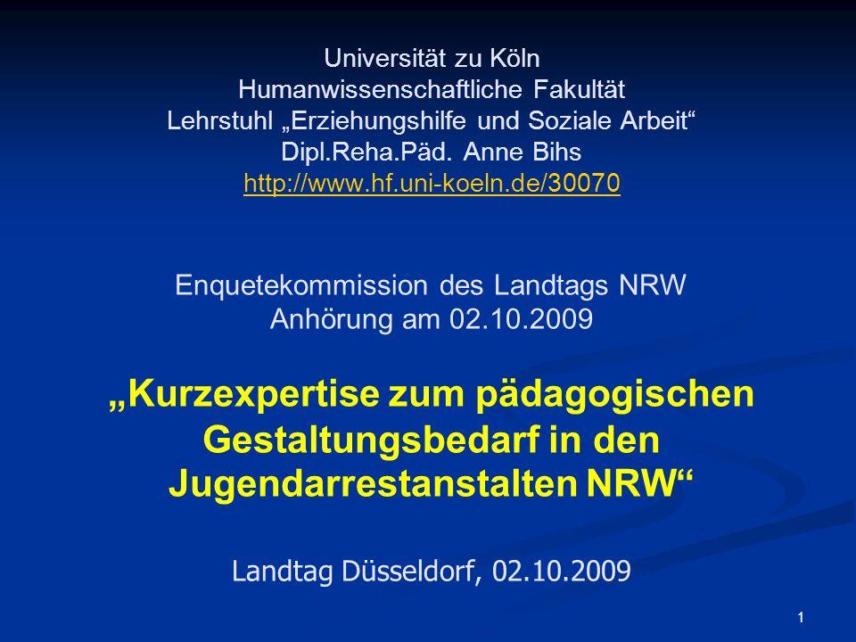 1 Universität zu Köln Humanwissenschaftliche Fakultät Lehrstuhl Erziehungshilfe und Soziale Arbeit Dipl.Reha.Päd. Anne Bihs http://www.hf.uni-koeln.de