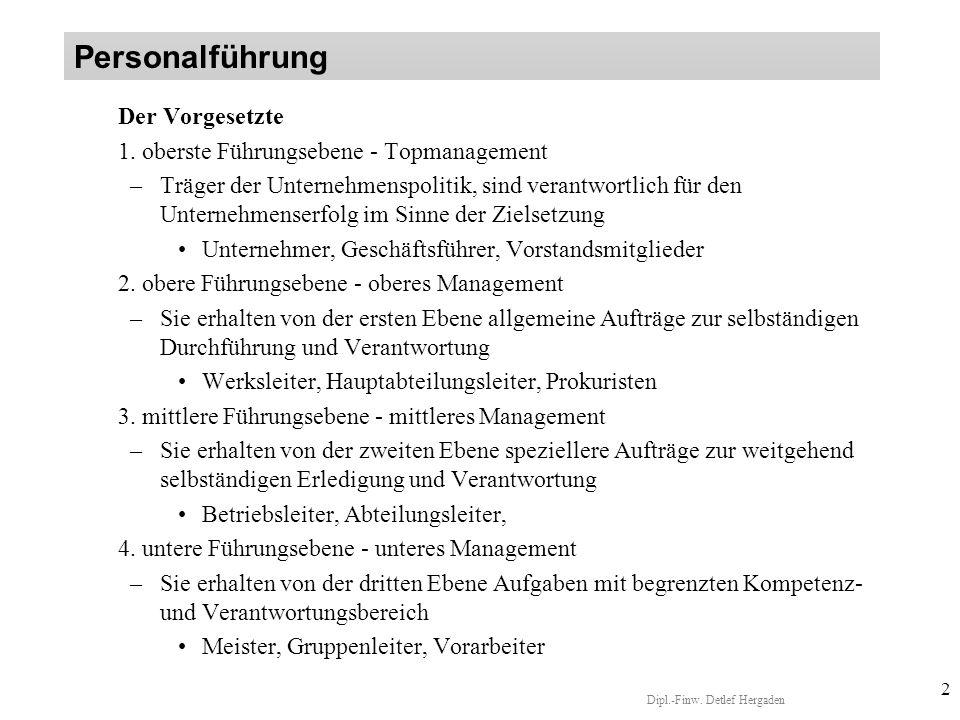 Dipl.-Finw.Detlef Hergaden 2 Der Vorgesetzte 1.