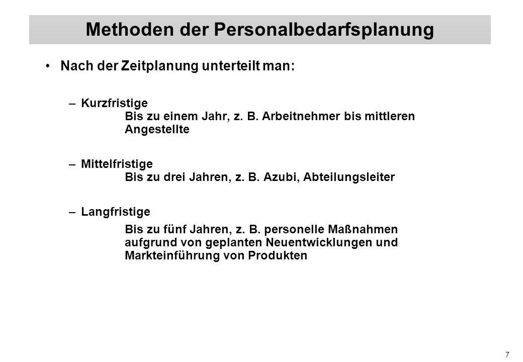 8 (1) Ermittlung des Bruttopersonalbedarfs, d.h.