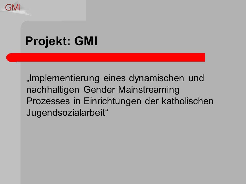 Projekt: GMI Implementierung eines dynamischen und nachhaltigen Gender Mainstreaming Prozesses in Einrichtungen der katholischen Jugendsozialarbeit