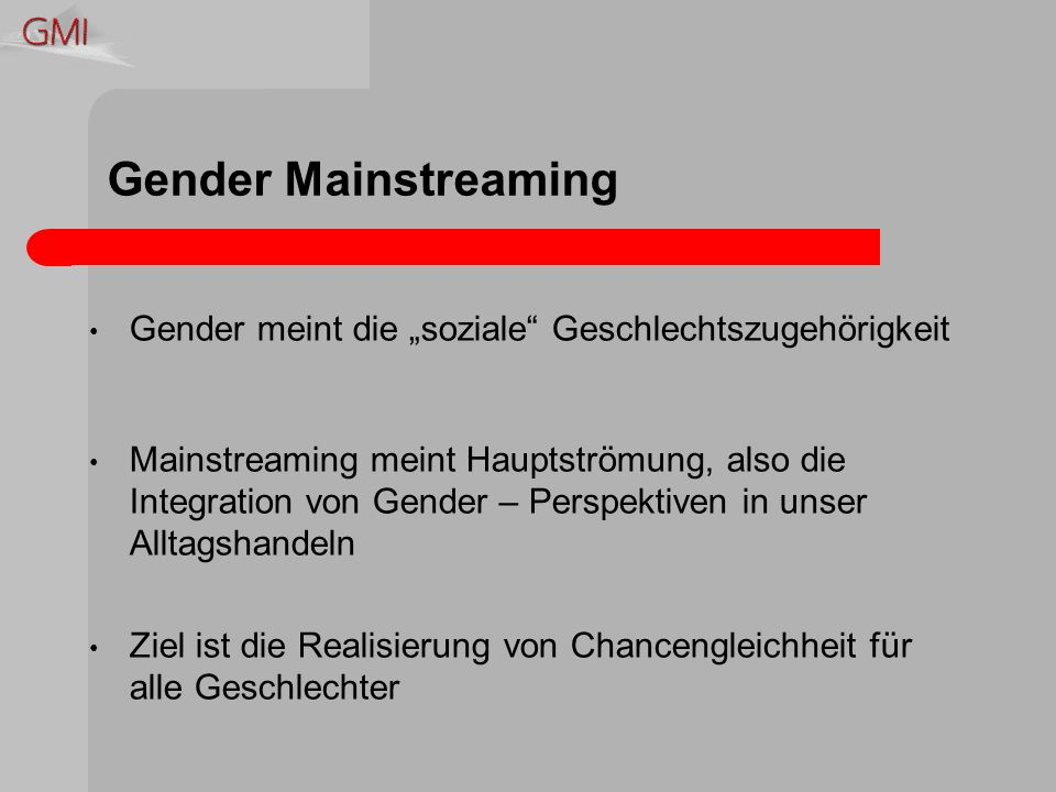 Perspektivwechsel In meinem Arbeitsbereich haben Geschlechterfragen keine Relevanz Für Gleichstellung zwischen den Geschlechtern sind andere zuständig Die Realisierung von Chancengleichheit zwischen den Geschlechtern ist Frauensache Es gibt keine geschlechtsneutrale Wirklichkeit Jede/r hat die Möglichkeit zur zur Gleichstellung der Geschlechter beizutragen Für die Gestaltung der Geschlechterverhältnisse sind Männer und Frauen verantwortlich