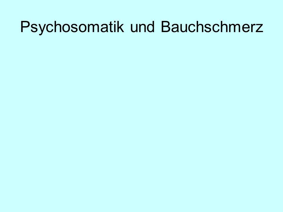 Psychosomatik und Bauchschmerz