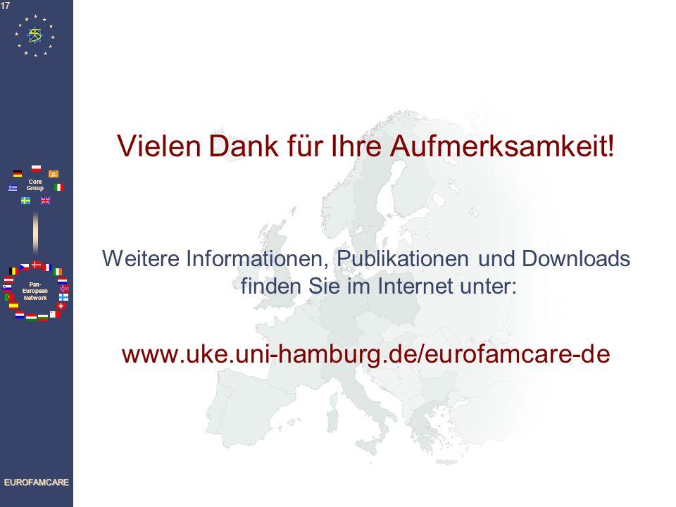 Pan- European Network Core Group EUROFAMCARE 17 Vielen Dank für Ihre Aufmerksamkeit.