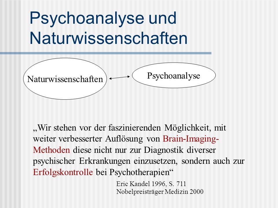 Psychoanalyse und Naturwissenschaften Naturwissenschaften Psychoanalyse Wir stehen vor der faszinierenden Möglichkeit, mit weiter verbesserter Auflösu