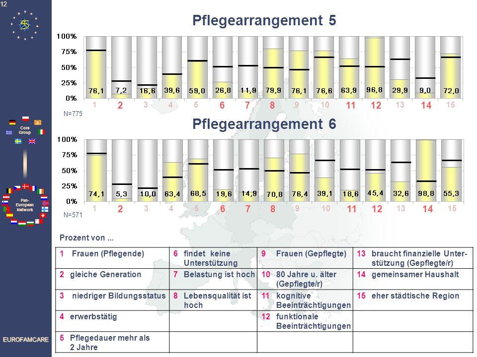 Pan- European Network Core Group EUROFAMCARE 12 1 2 345 678 910 1112 13 14 15 1 Frauen (Pflegende)6findet keine Unterstützung 9Frauen (Gepflegte)13bra