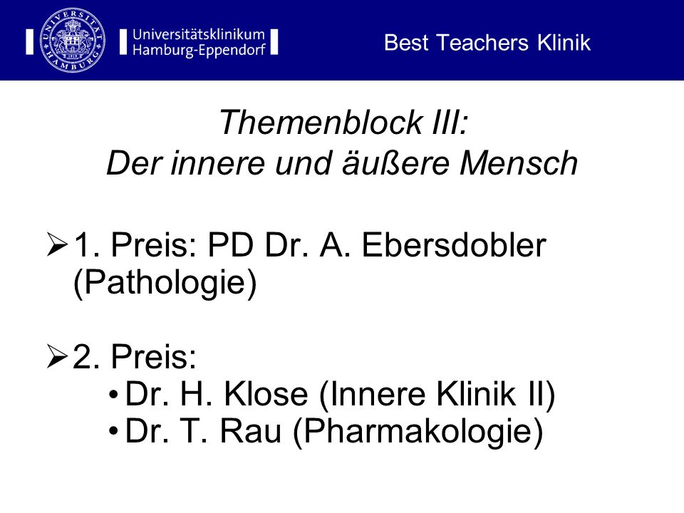 Best Teachers Klinik Themenblock II: Operative Medizin 1.
