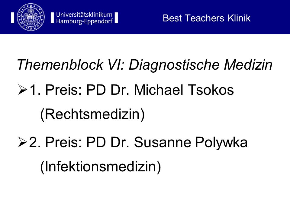 Best Teachers Klinik Themenblock V: Psychosoziale Medizin 1.