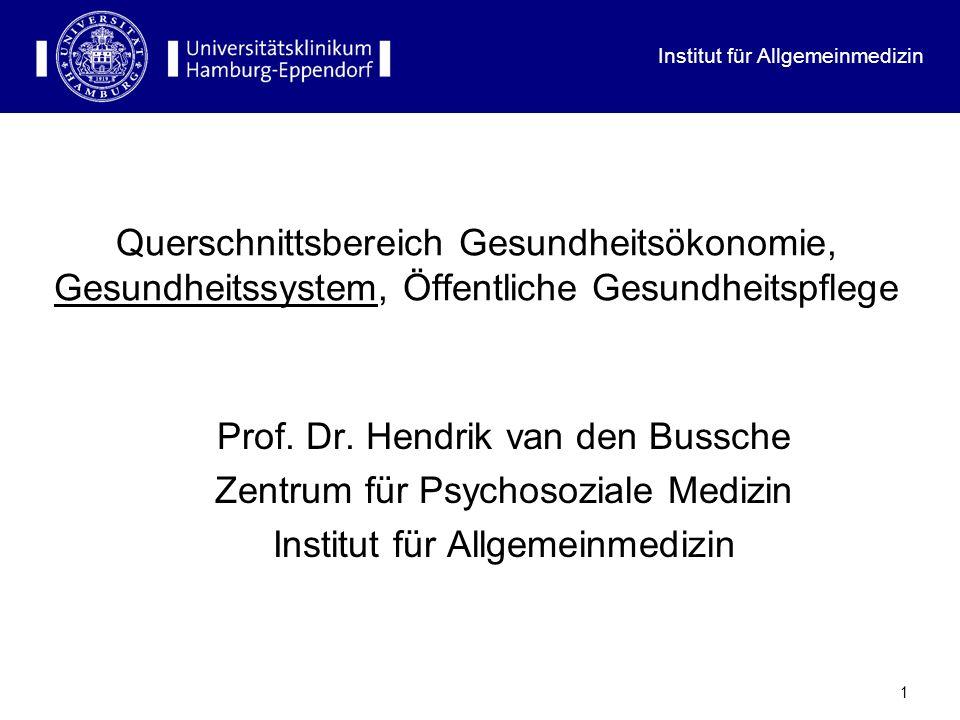 Institut für Allgemeinmedizin 12 Bettendichte im internationalen Vergleich
