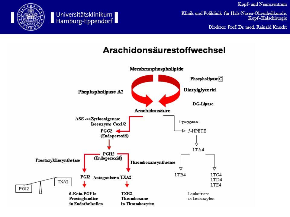 Kopf- und Neurozentrum Klinik und Poliklinik für Hals-Nasen-Ohrenheilkunde, Kopf-/Halschirurgie Direktor: Prof. Dr. med. Rainald Knecht