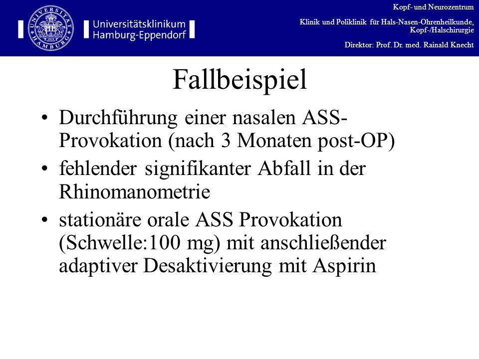 Kopf- und Neurozentrum Klinik und Poliklinik für Hals-Nasen-Ohrenheilkunde, Kopf-/Halschirurgie Direktor: Prof. Dr. med. Rainald Knecht Fallbeispiel D