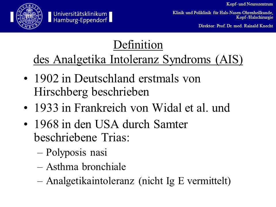 Kopf- und Neurozentrum Klinik und Poliklinik für Hals-Nasen-Ohrenheilkunde, Kopf-/Halschirurgie Direktor: Prof. Dr. med. Rainald Knecht Definition des