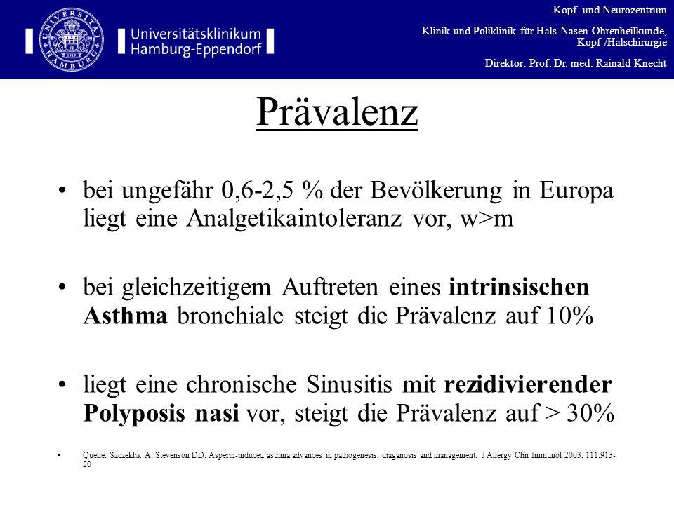 Kopf- und Neurozentrum Klinik und Poliklinik für Hals-Nasen-Ohrenheilkunde, Kopf-/Halschirurgie Direktor: Prof. Dr. med. Rainald Knecht Prävalenz bei