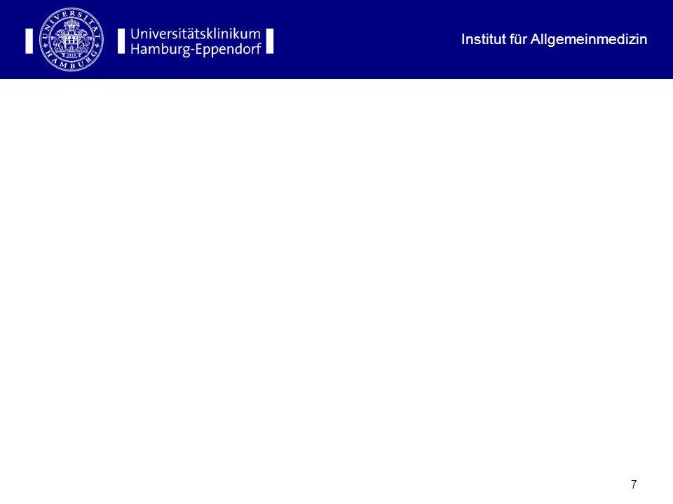 Institut für Allgemeinmedizin 17 Anteil der Hausärzte an der Gesamtärzteschaft 2005
