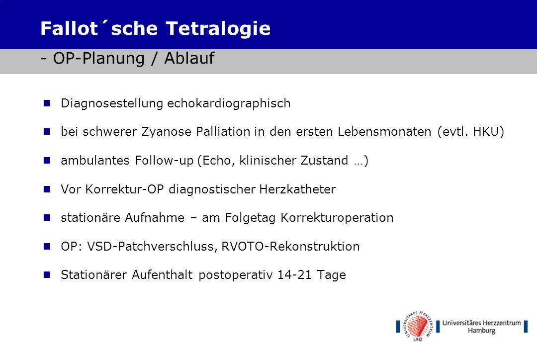 Shunts Zentral: Aorta-> PA Stamm Tr. Brachioceph.-> PA Stamm MBTS: Tr. Brachioceph.->RPA Waterston/Pott (direkt): Ao. Asc.->RPA/Ao.desc.->LPA Fallot´s