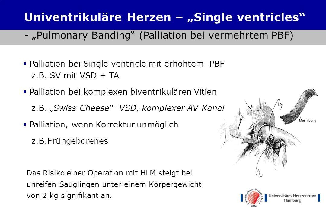 Shunts Zentral: Aorta-> PA Stamm Tr. Brachioceph.-> PA Stamm MBTS: Tr. Brachioceph.->RPA Waterston/Pott (direkt): Ao. Asc.->RPA/Ao.desc.->LPA Univentr