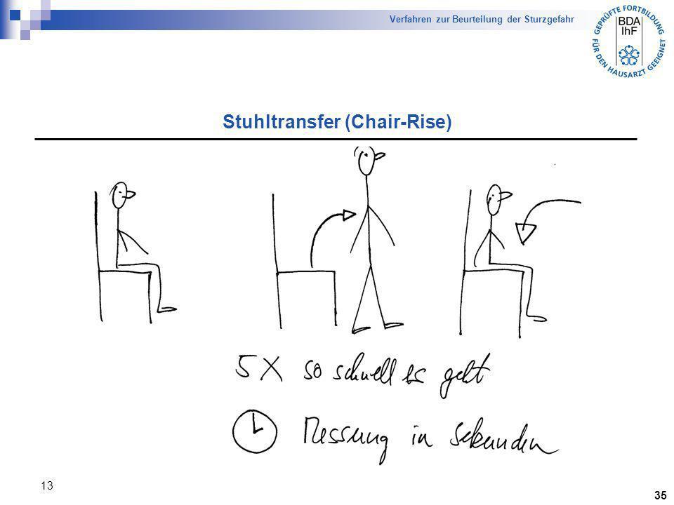 13 Stuhltransfer (Chair-Rise) Verfahren zur Beurteilung der Sturzgefahr 35