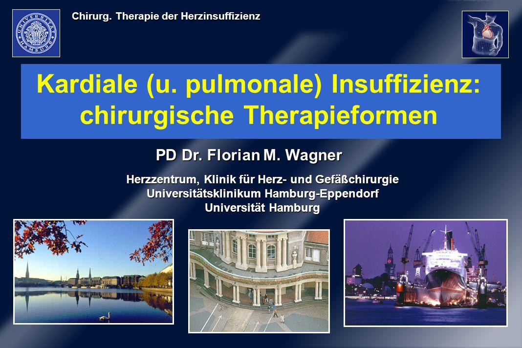 Chirurg. Therapie der Herzinsuffizienz Kardiale (u. pulmonale) Insuffizienz: chirurgische Therapieformen Herzzentrum, Klinik für Herz- und Gefäßchirur