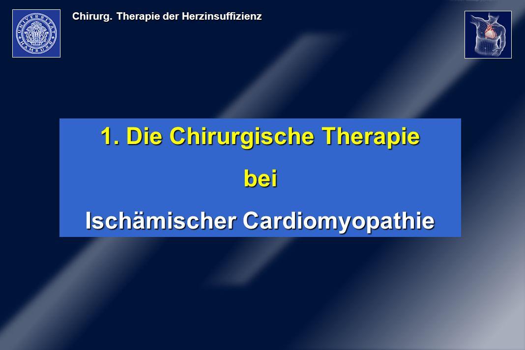 Chirurg. Therapie der Herzinsuffizienz 1. Die Chirurgische Therapie bei Ischämischer Cardiomyopathie