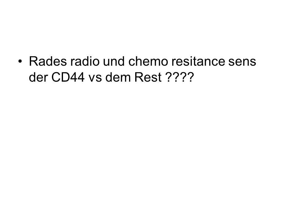 Rades radio und chemo resitance sens der CD44 vs dem Rest ????