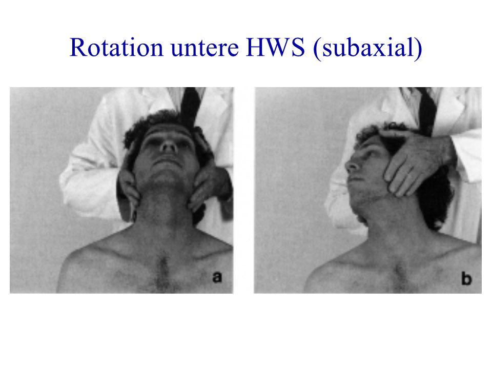 Rotation untere HWS (subaxial)