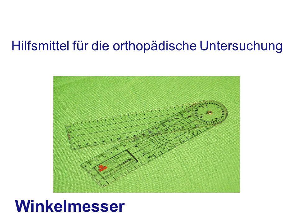 Hilfsmittel für die orthopädische Untersuchung Winkelmesser