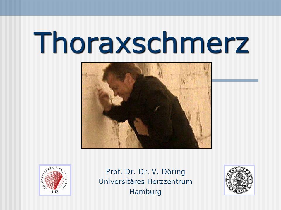 Thoraxschmerz Prof. Dr. Dr. V. Döring Universitäres Herzzentrum Hamburg