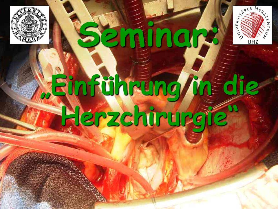 Chirurgie der Aortenklappe: Aortenstenose Ursachen: Angeboren Postrheumatisch Degenerativ Folgen: Druckbelastung des LV Frage: Wie ist die normale Öffnungsfläche der Aortenklappe?