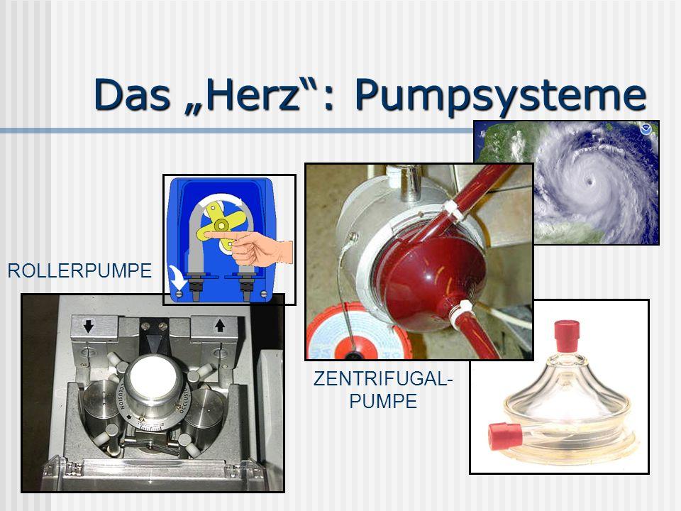 Das Herz: Pumpsysteme ROLLERPUMPE ZENTRIFUGAL- PUMPE
