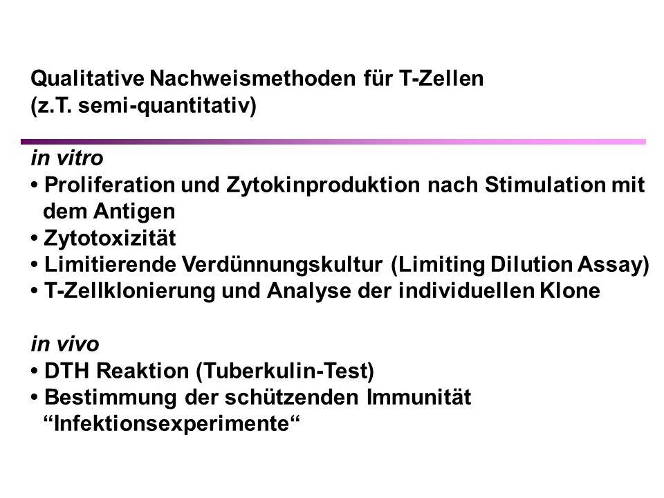 Qualitative Nachweismethoden für T-Zellen (z.T.