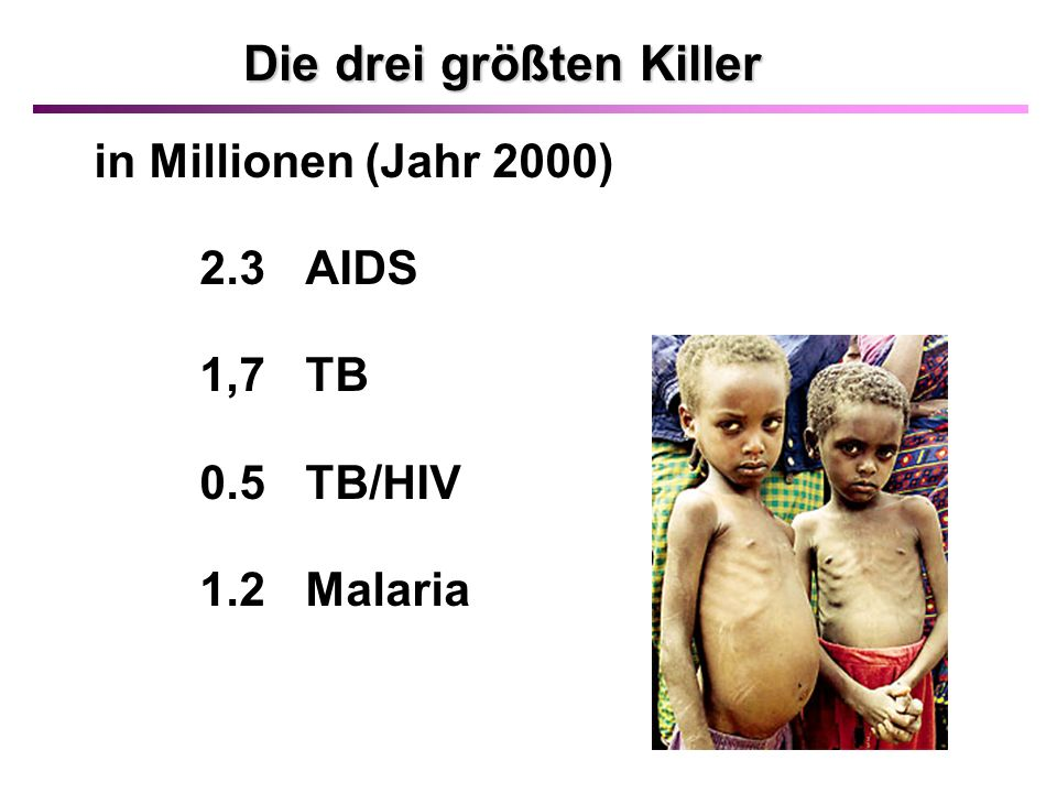 Dringend benötigte Impfstoffe: HIV Tuberkulose Malaria Hepatitis C Chlamydien Helicobacter pylori Leishmaniose Filariose Schistosomiasis (Bilharziose) Papilloma Virus Rotaviren (Durchfallerkrankungen) Respiratorisches Synzytienvirus (RSV), Rhinoviren u.v.a.
