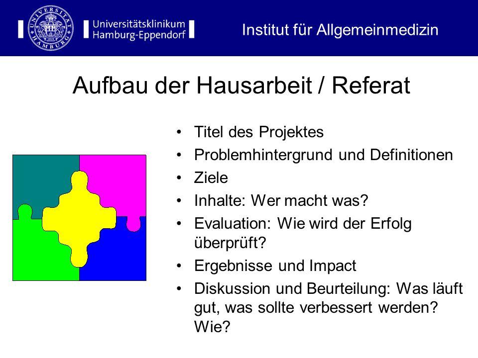 Titel des Projektes Problemhintergrund und Definitionen Ziele Inhalte: Wer macht was? Evaluation: Wie wird der Erfolg überprüft? Ergebnisse und Impact