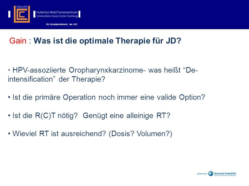 Ein Kompetenznetzwerk des UKE Gain : Was ist die optimale Therapie für JD.