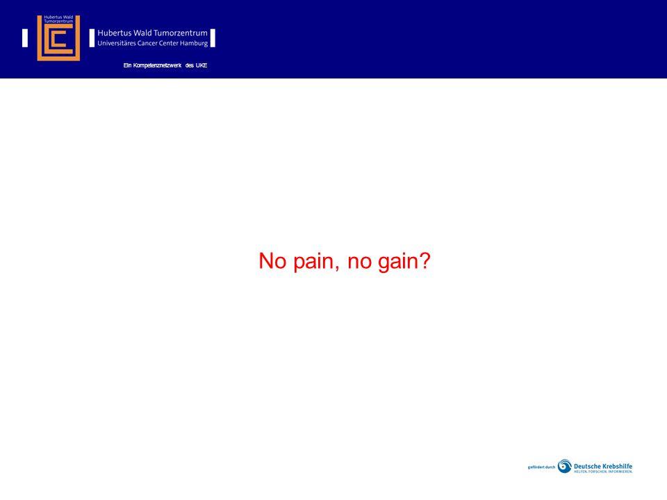 Ein Kompetenznetzwerk des UKE No pain, no gain?