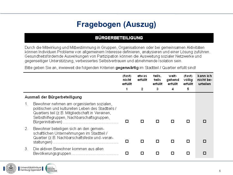 5 Fragebogen (Auszug)