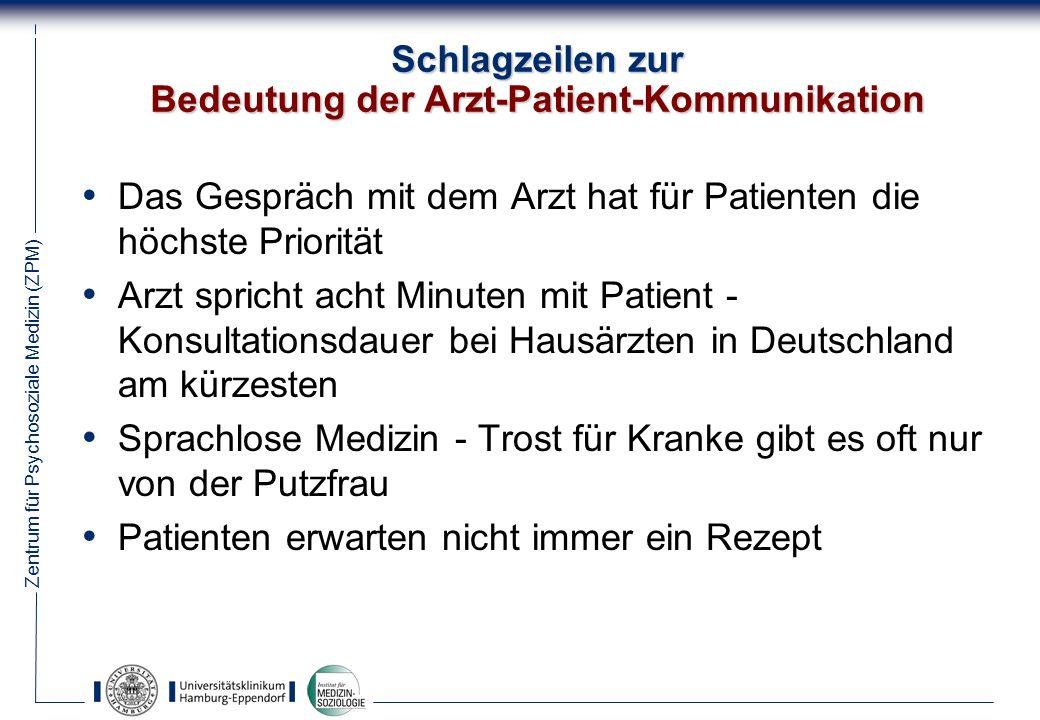 Zentrum für Psychosoziale Medizin (ZPM) 35 Aus: Kaptchuk, T.