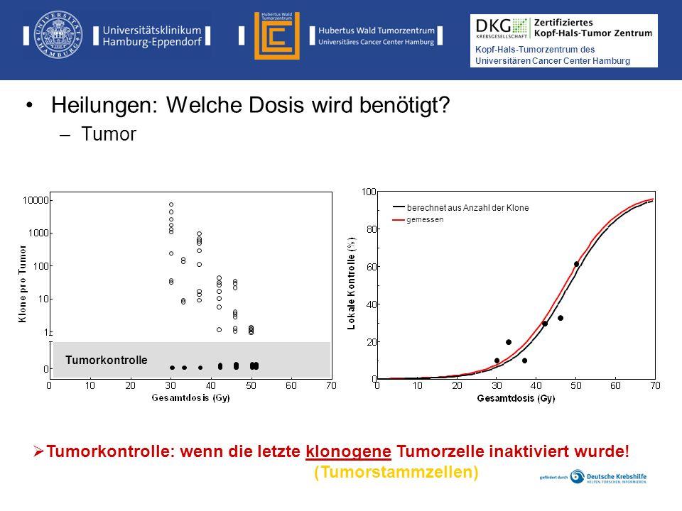 Medikamentöse Tumortherapie der Kopf-, Hals-Tumoren Kopf-Hals-Tumorzentrum des Universitären Cancer Center Hamburg Tumorkontrolle gemessen Tumorkontro