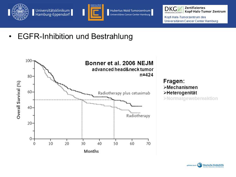 Medikamentöse Tumortherapie der Kopf-, Hals-Tumoren Kopf-Hals-Tumorzentrum des Universitären Cancer Center Hamburg Bonner et al. 2006 NEJM advanced he