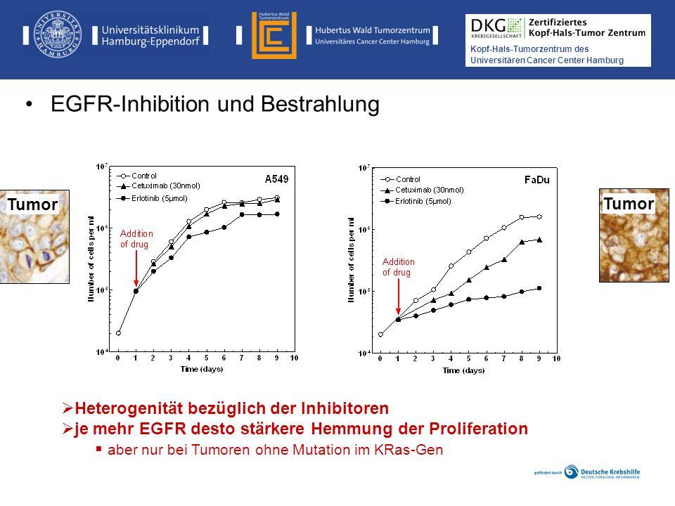 Medikamentöse Tumortherapie der Kopf-, Hals-Tumoren Kopf-Hals-Tumorzentrum des Universitären Cancer Center Hamburg Heterogenität bezüglich der Inhibit