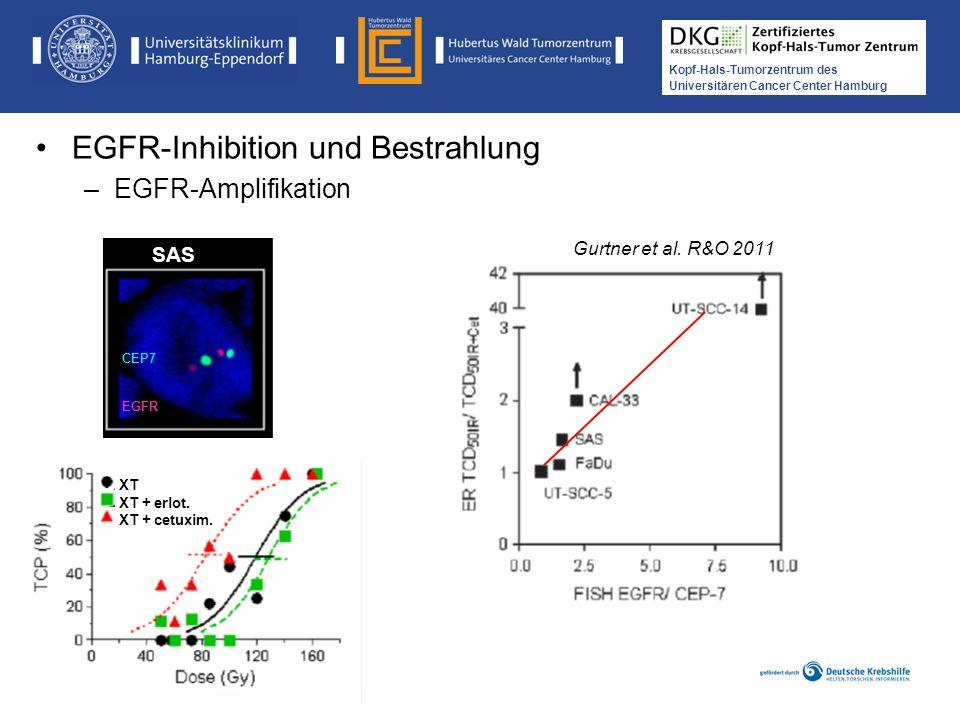 Medikamentöse Tumortherapie der Kopf-, Hals-Tumoren Kopf-Hals-Tumorzentrum des Universitären Cancer Center Hamburg EGFR-Inhibition und Bestrahlung –EG
