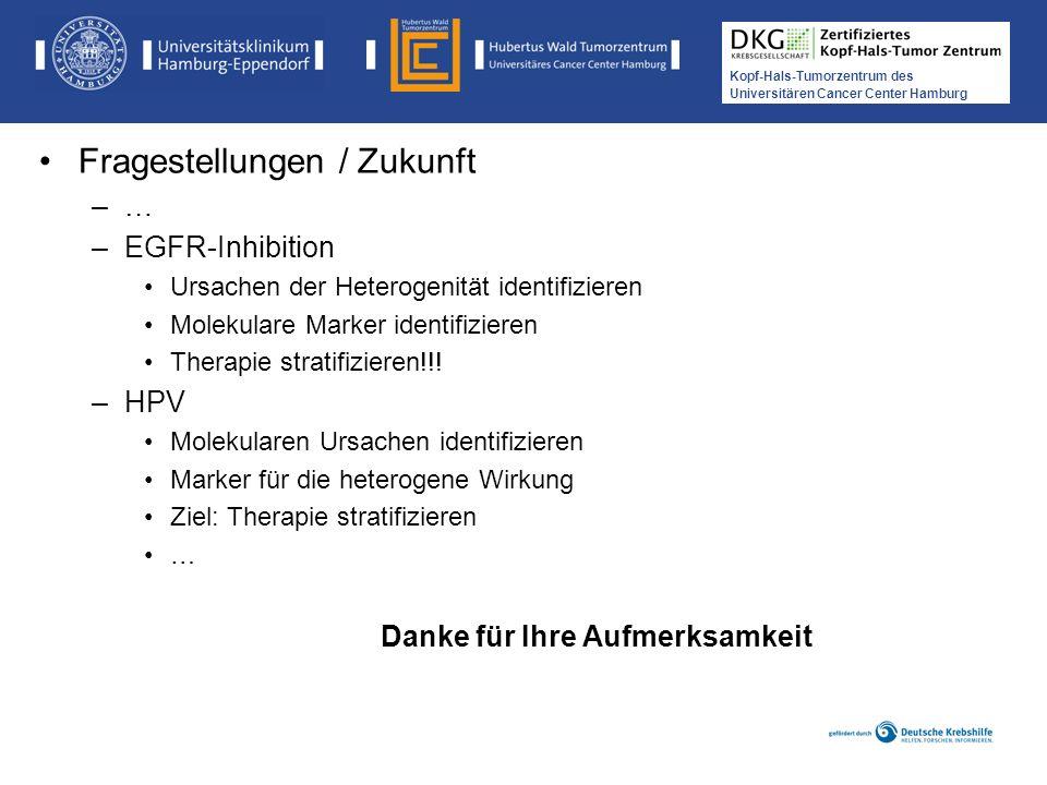 Medikamentöse Tumortherapie der Kopf-, Hals-Tumoren Kopf-Hals-Tumorzentrum des Universitären Cancer Center Hamburg Fragestellungen / Zukunft –…–… –EGF