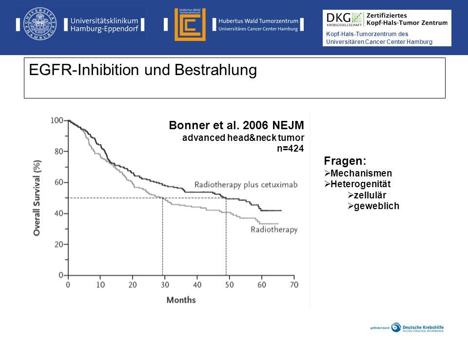 Medikamentöse Tumortherapie der Kopf-, Hals-Tumoren Kopf-Hals-Tumorzentrum des Universitären Cancer Center Hamburg EGFR-Inhibition und Bestrahlung Bon