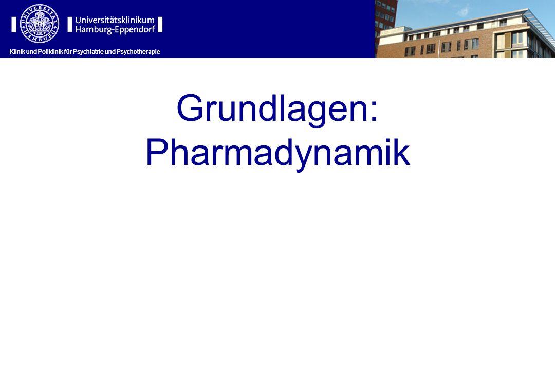 Grundlagen: Pharmadynamik Klinik und Poliklinik für Psychiatrie und Psychotherapie