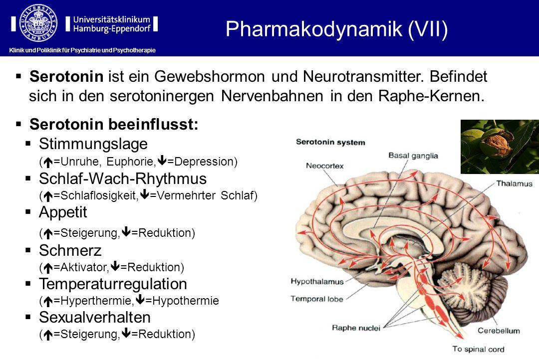 Klinik und Poliklinik für Psychiatrie und Psychotherapie Serotonin ist ein Gewebshormon und Neurotransmitter. Befindet sich in den serotoninergen Nerv