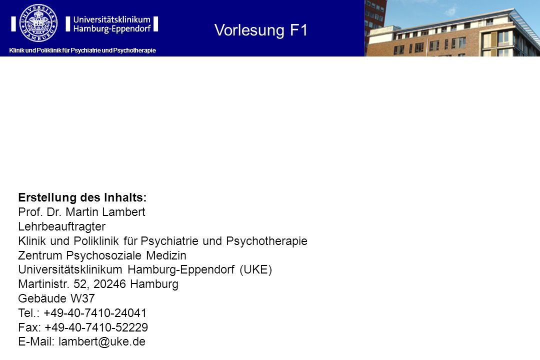 Hauptindikation Klinik und Poliklinik für Psychiatrie und Psychotherapie ICD-10Indikation F2 Schizoaffektive Störungen F3 – F31 Bipolar-I-Störung Bipolar-II-Störung F3 – F33 Rezidivierende depressive Störung