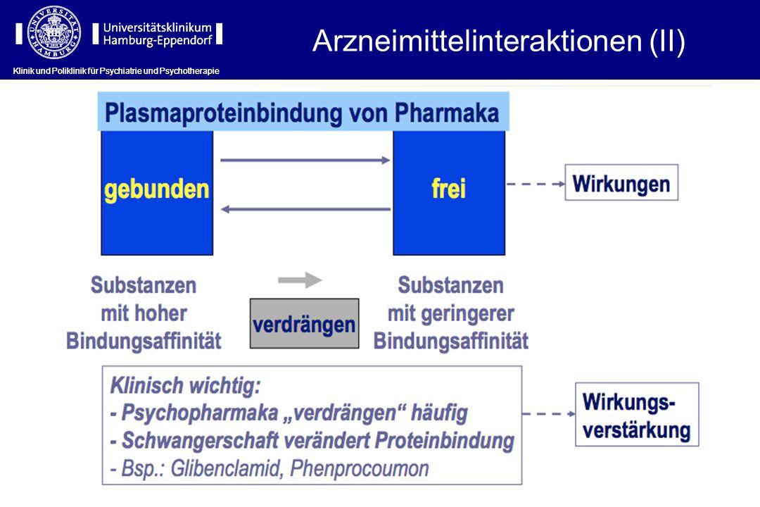 Arzneimittelinteraktionen (II)