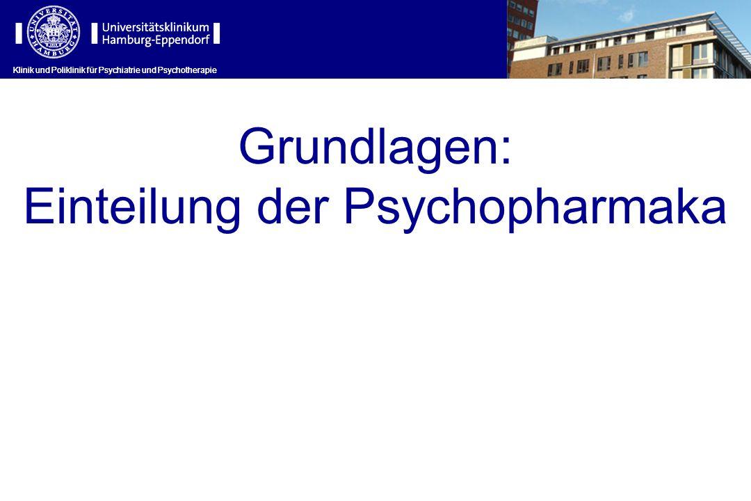 Klinik und Poliklinik für Psychiatrie und Psychotherapie Grundlagen: Einteilung der Psychopharmaka Klinik und Poliklinik für Psychiatrie und Psychothe
