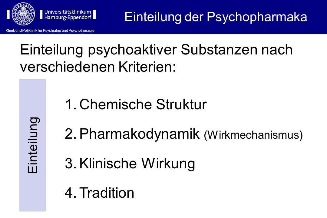 Wirkort (I) Klinik und Poliklinik für Psychiatrie und Psychotherapie