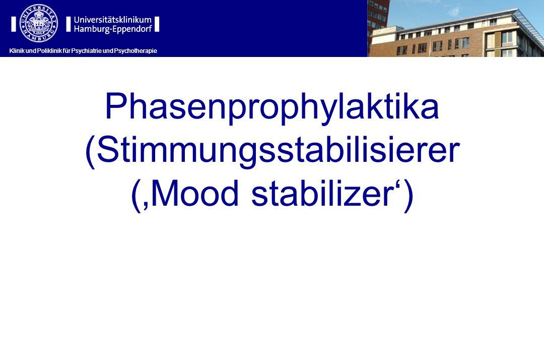 Klinik und Poliklinik für Psychiatrie und Psychotherapie Phasenprophylaktika (Stimmungsstabilisierer (Mood stabilizer) Klinik und Poliklinik für Psych